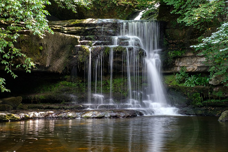 View of Cauldron Force at West Burton in The Yorkshire Dales National Park photo