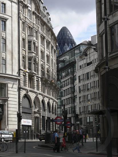 30 St Mary Axe - City of London underground signs horizontal photo