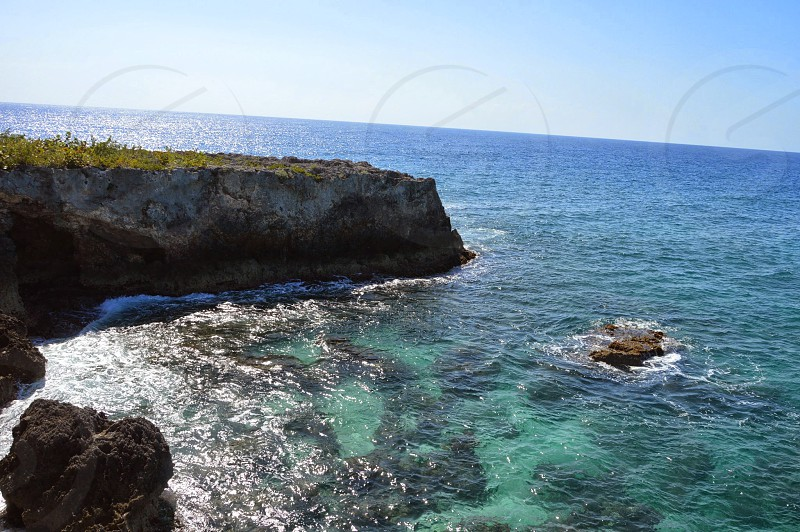 Negril Rock Western Point Jamaica Caribbean Sea Blue photo