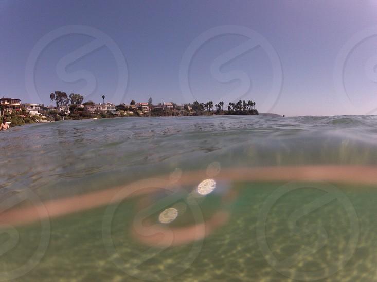 clear sea water photo