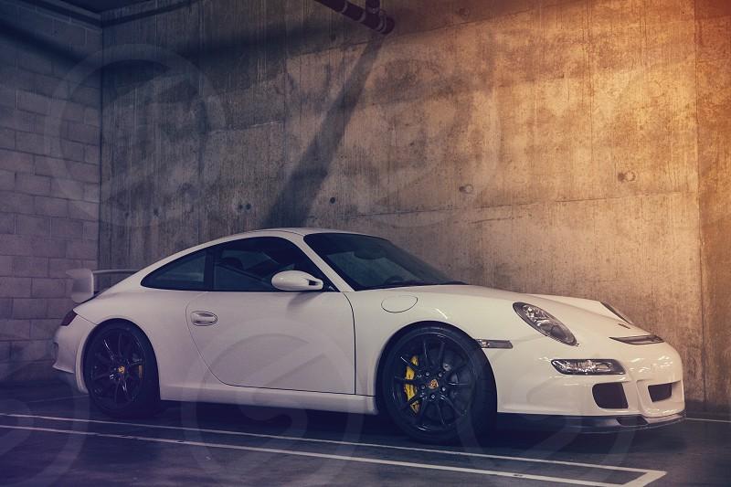 Porsche gt3 car auto automotive wheels European German sports car race car 911 carrera  photo