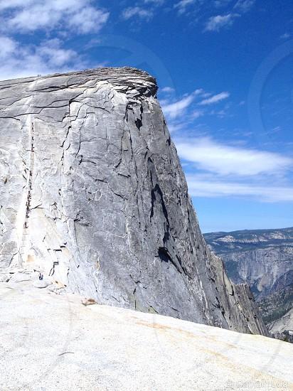 grey rocky cliff photo