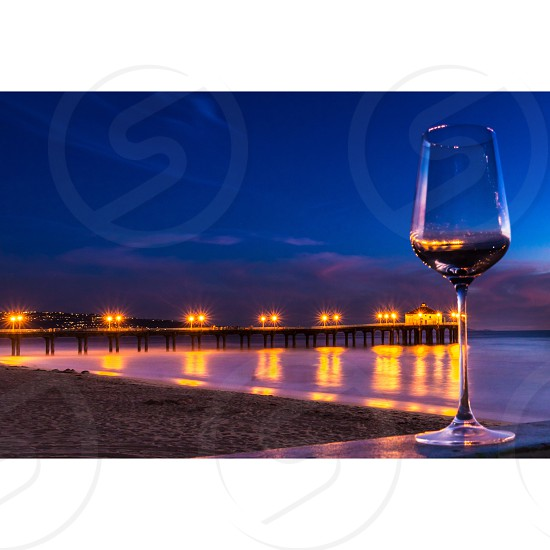 wine glass on table photo