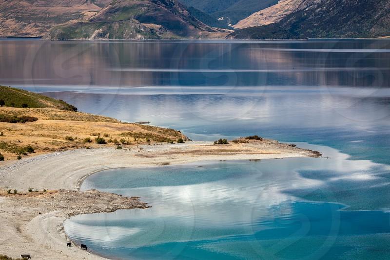 Scenic View of Lake Hawea photo
