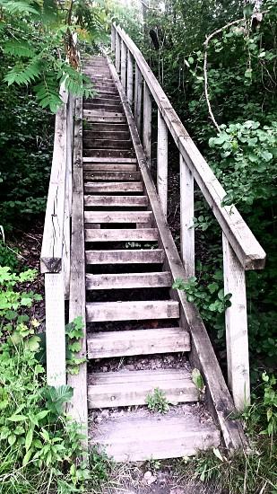L'escalier ! la voie de passage a un chemin. photo