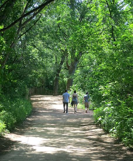 Hike and Bike Trail along Ladybird Lake Austin Texas photo