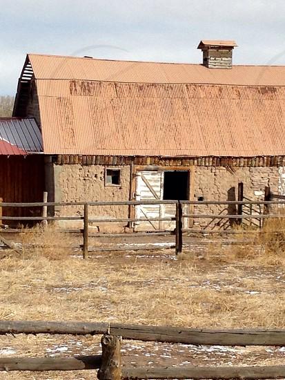 Old barn Colorado mountains barn photo