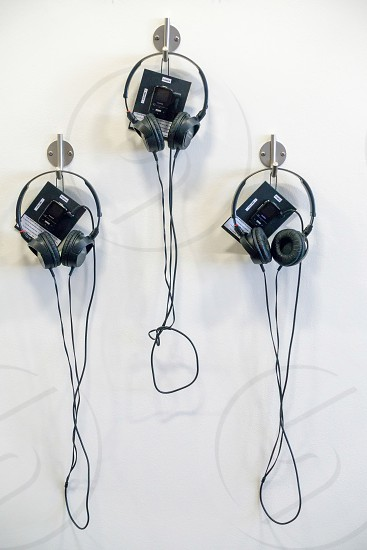 Visitor headsets at the Millennium Centre in Cardiff photo