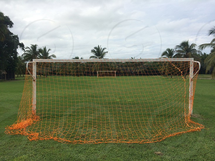 Soccer field in Dominican Republic.  photo