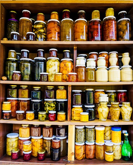 Jars Preserves Food Veggies  photo