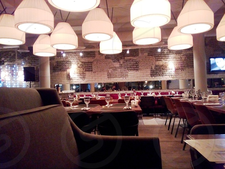 A beautiful Italian restaurant in Moscow photo
