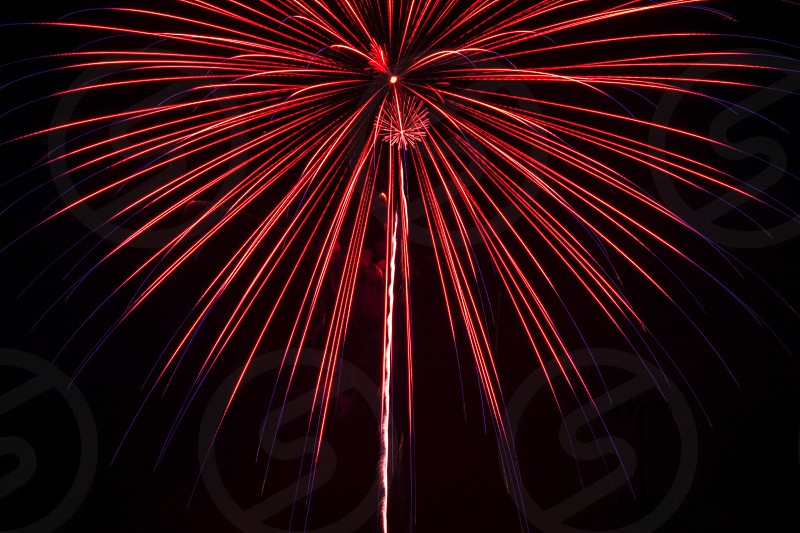 Fireworks firework fire boom explosion pop red blue white 4th of July celebration party night light dark beautiful beauty art photo