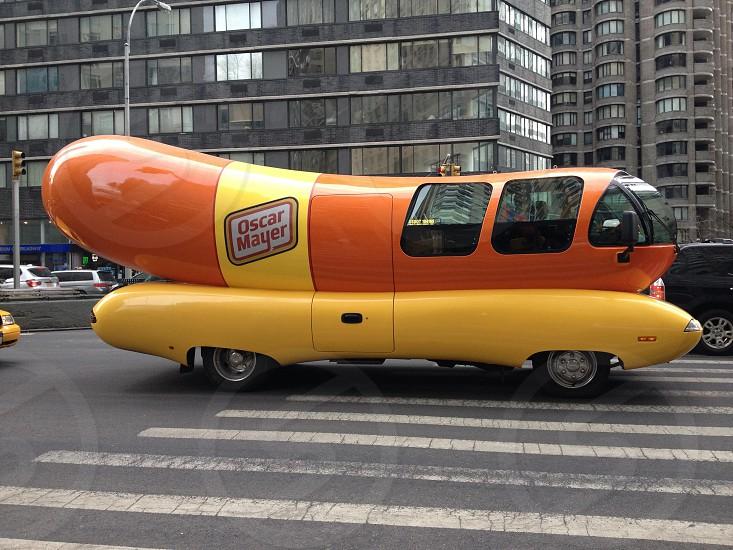 Oscar Meyer Weiner Mobile cruising through New York City photo