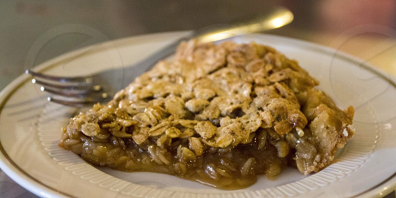 Oatmeal pie (example from Oark General Store Oark AR) photo