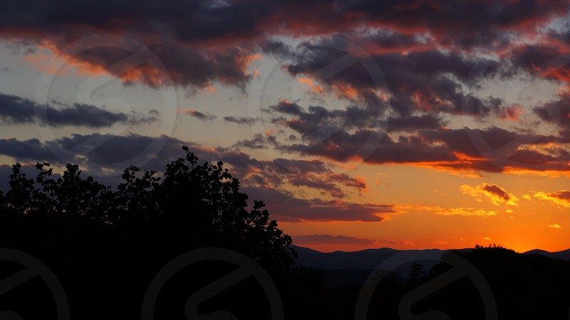 Sunset in the Great Smokey Mountains photo