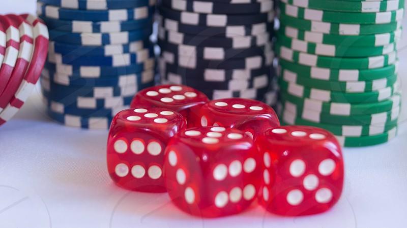 chips dice cassino gambling board game photo