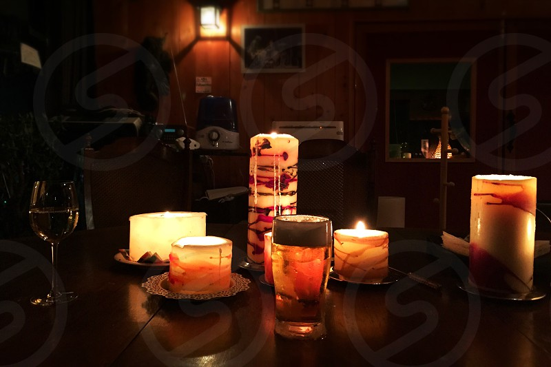 Candle Candles candle light night life warm color  photo
