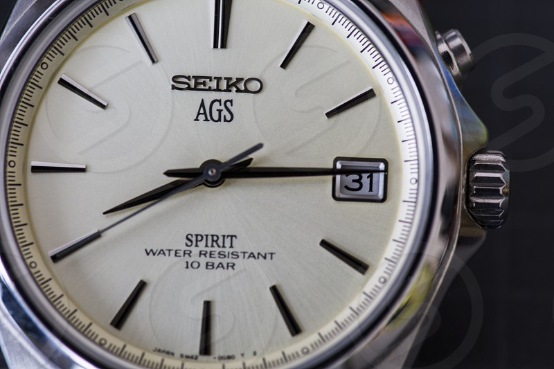 seiko ags analog watch read out 8: 14 photo