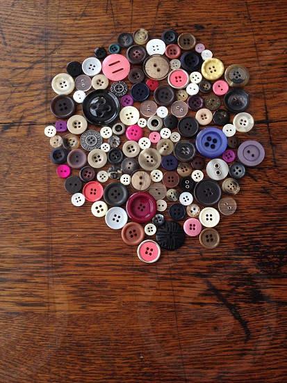 multicolored lot of buttons photo