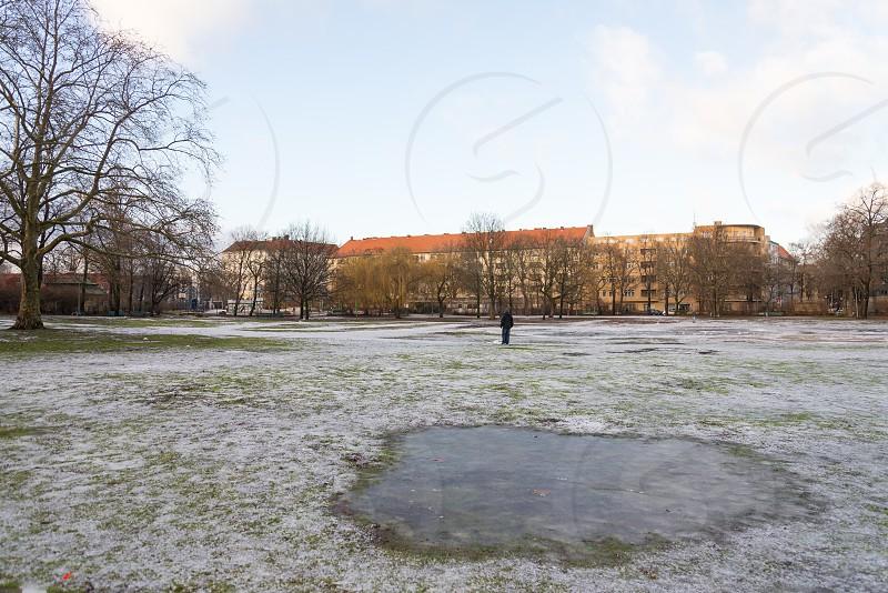 Preußenpark inside Wilmersdorf neighborhood in Berlin Germany during in winter season there is no Thai park in this season. photo