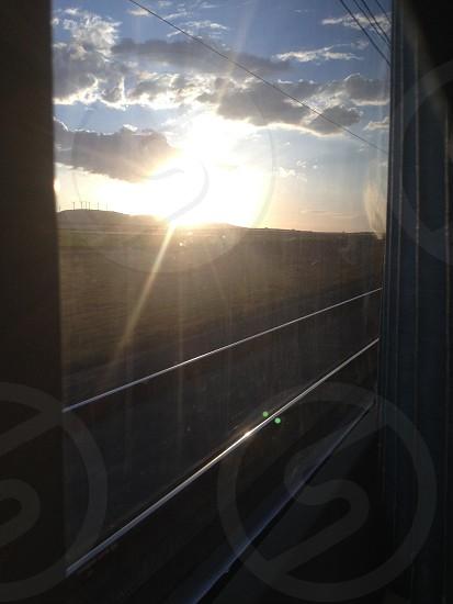 Jaén-Madrid sunset train photo