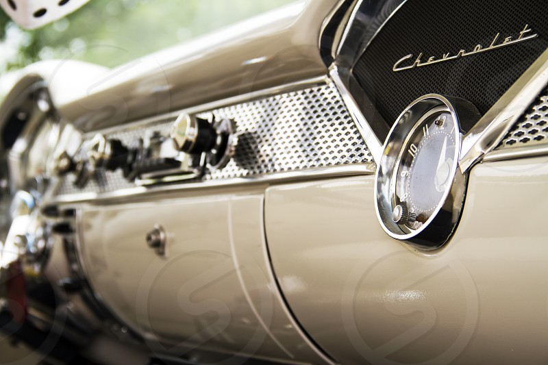 1956 Chevy dashboard. photo