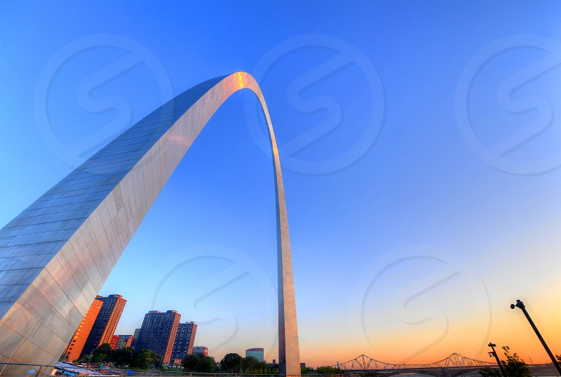 The Gateway Arch in St. Louis Missouri. photo