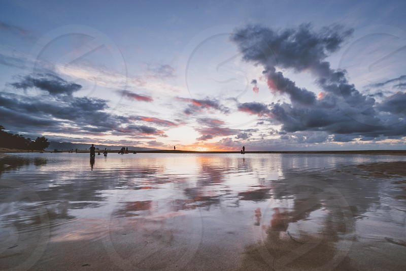 Sunset Hawaii beach  photo