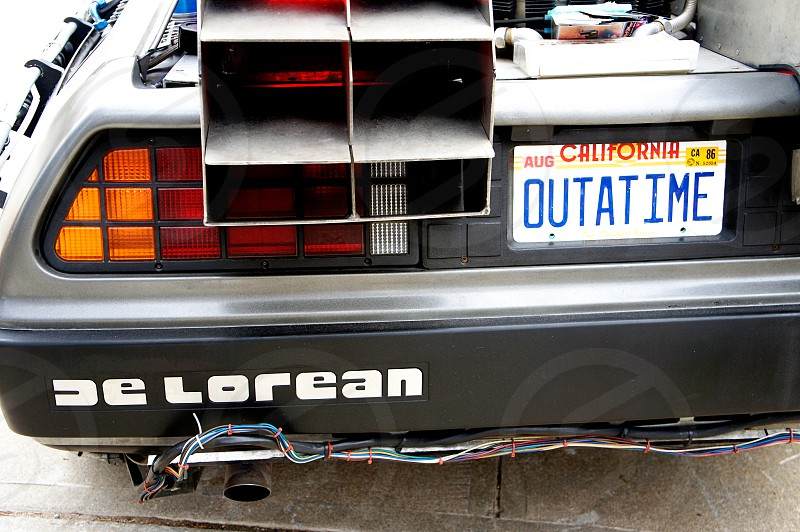 DeLorean Time Machine from the Back to the Future movies photo
