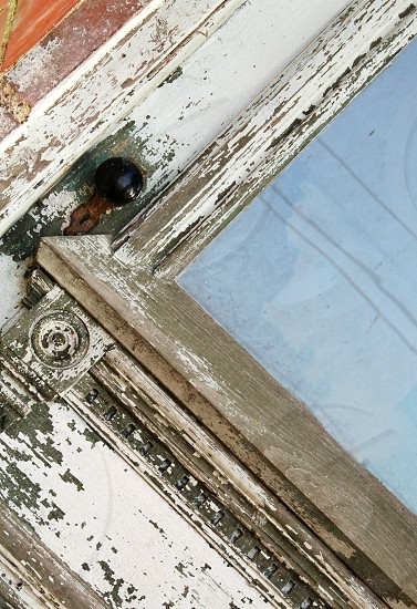 wooden white distressed frame photo