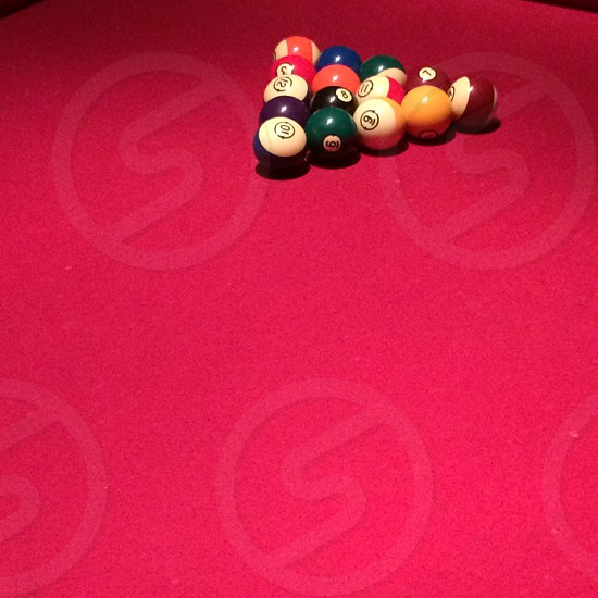 Pool Table; Billiards; Hot Pink; Stripes & Solids photo