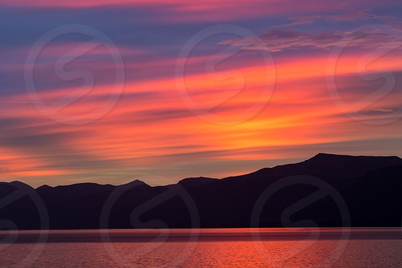 Sunrise in the Beagle Channel South America Ushuaia photo