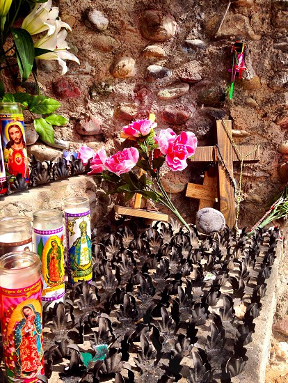 Small shrine in Chimayo New Mexico on the scenic High Road to Taos. photo