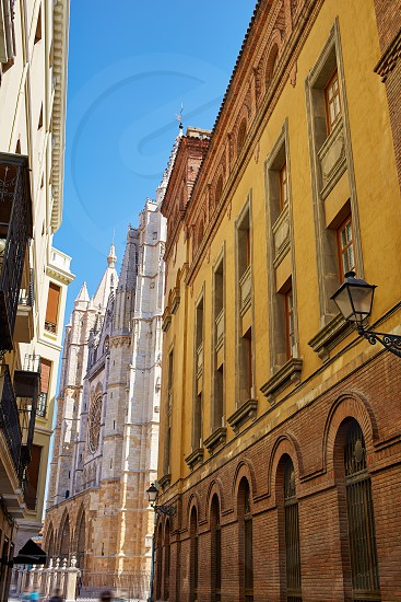 Leon way of Saint James to Cathedral in Spain photo