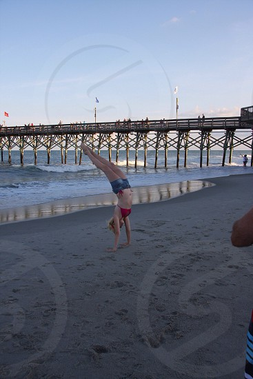 Tumbling  gymnastics any where you go. If you love it it's in your blood. photo