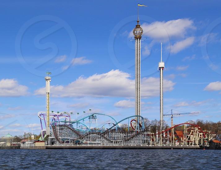 Gröna Lund Stockholm fair rollercoaster  fun photo