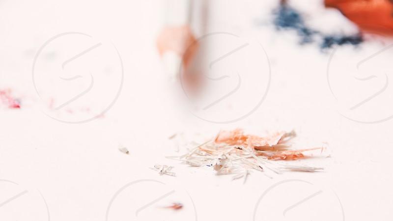 Sharpening pencils photo