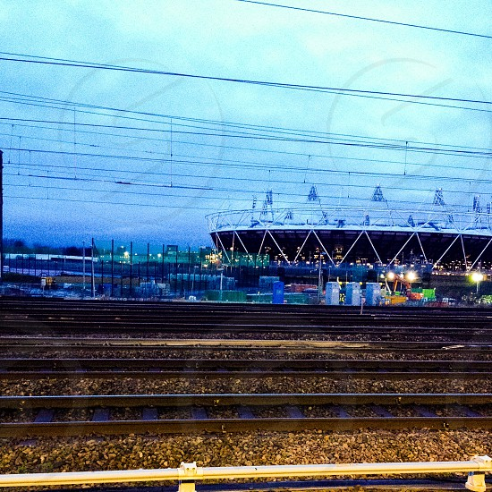 London 2012 Olympic Stadium a view from Stratford. photo