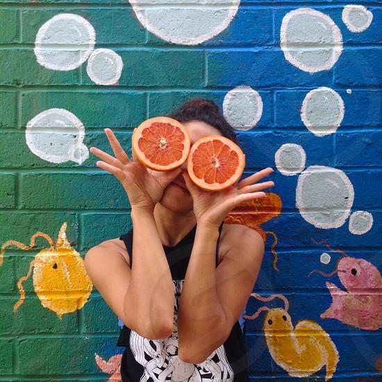 sliced orange fruit photo