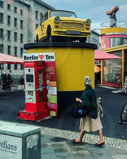 Street photography Berlin Germany woman walking Europe  photo