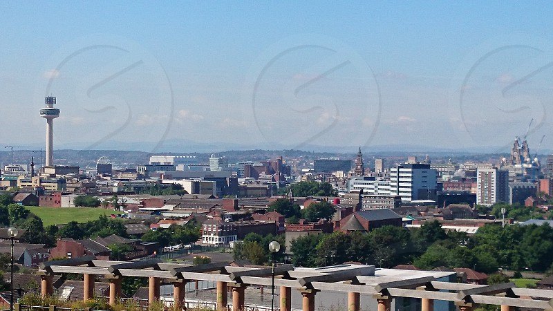 Liverpool Skyline.  Liverpool  UK. photo