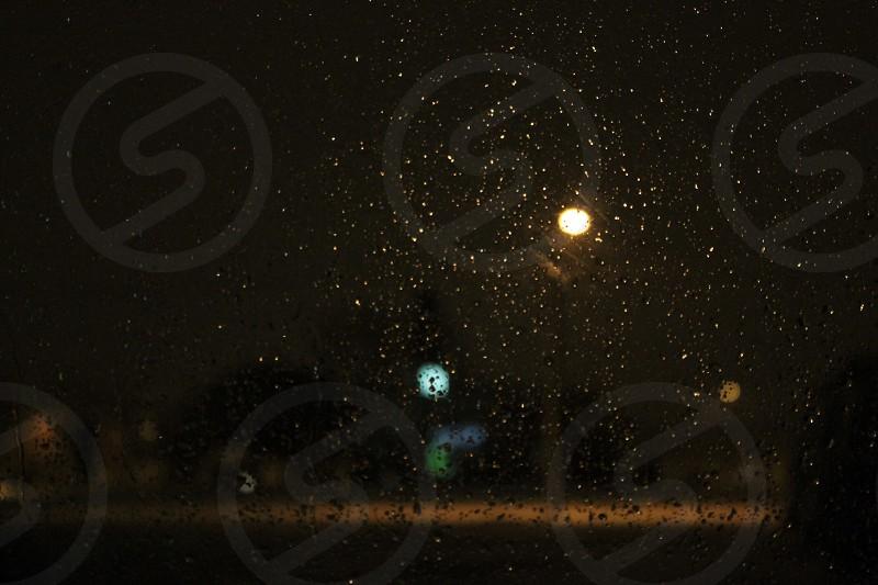 a view of rain drops photo