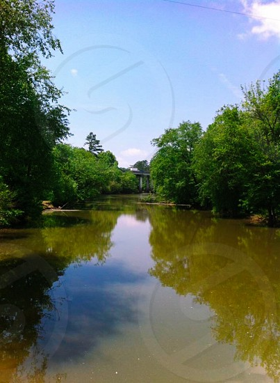 Rope Mill Trail. Hiking Woodstock Georgia nature bridge River photography  photo