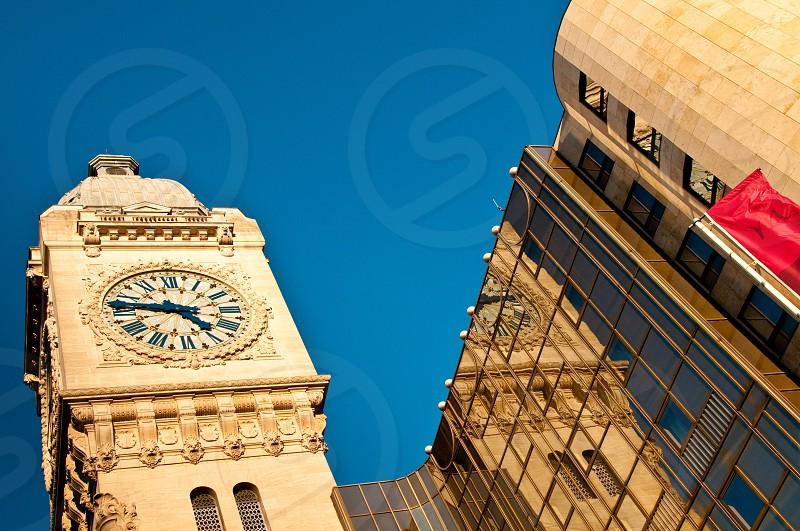 brown tower clock photo