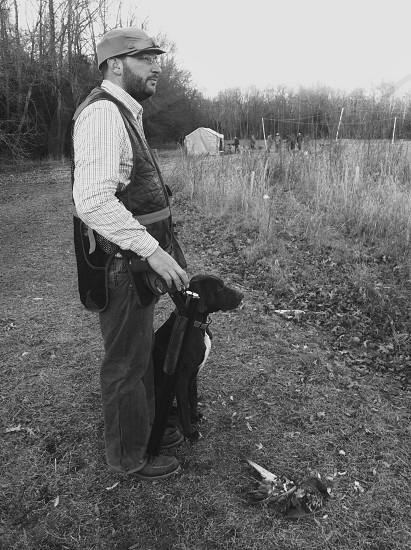 Hunter and dog hunting hunter bird hunting hunting dog hunter and dog together bird dog shotgun shooting photo