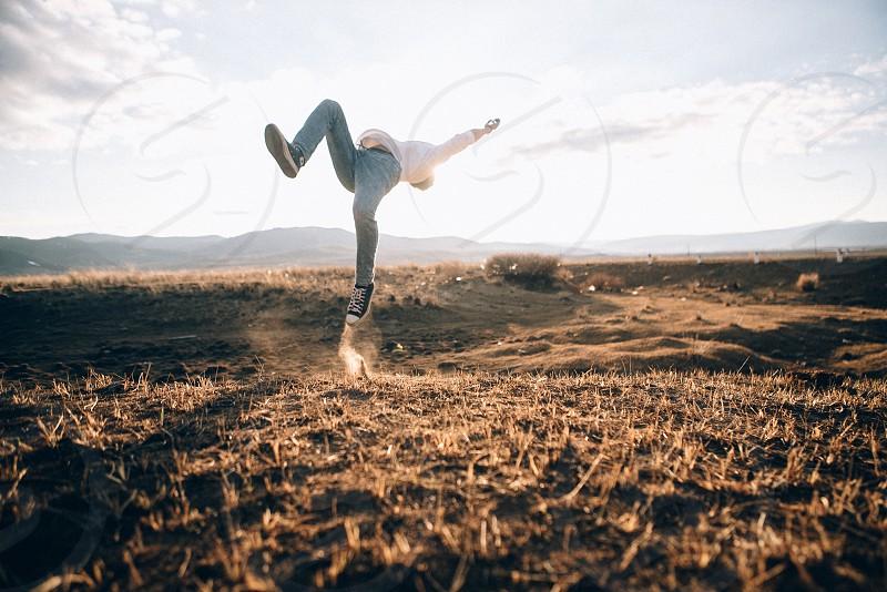 Jumping men photo