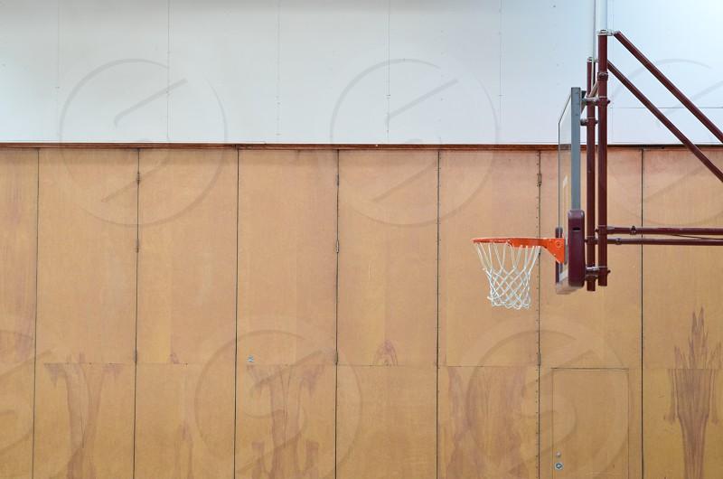 Basketball hoop alone photo