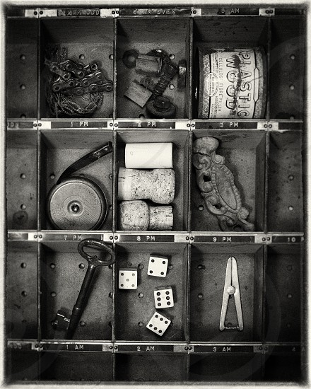 Odds and ends in a drawer photo