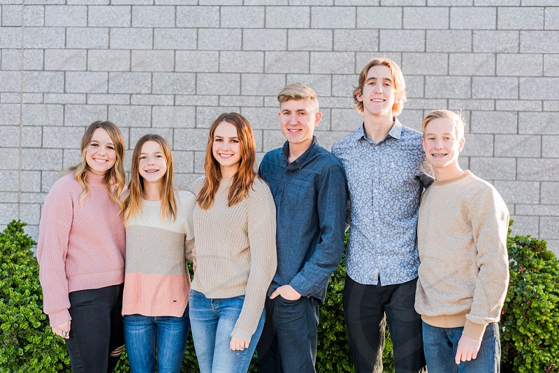 Large family session in Phoenix Arizona - Mesa Arts Center photo