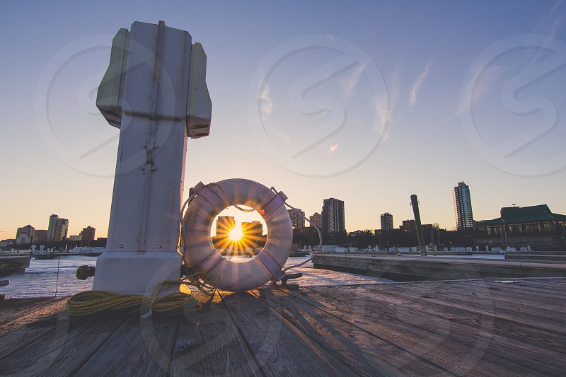 Spring sunset in Milwaukee photo